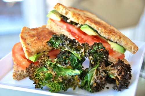 Grilled Tomato Avocado & Basil Sandwich