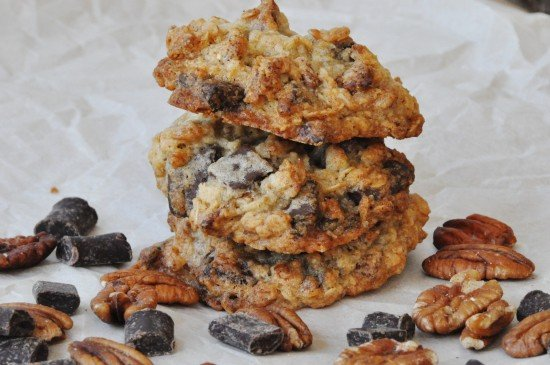 Chocolate Pecan Oatmeal Cookies