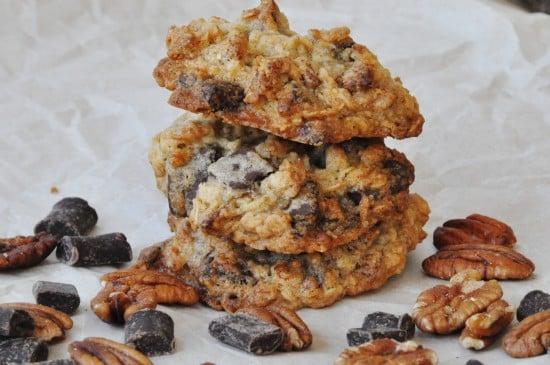 Chocolate Pecan Oatmeal Cookies
