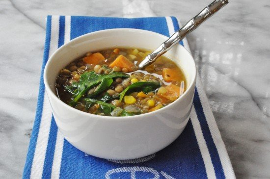 Sweet Potato, Kale, and Lentil Soup
