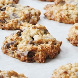 Vegan Chocolate Pecan Oatmeal Cookies