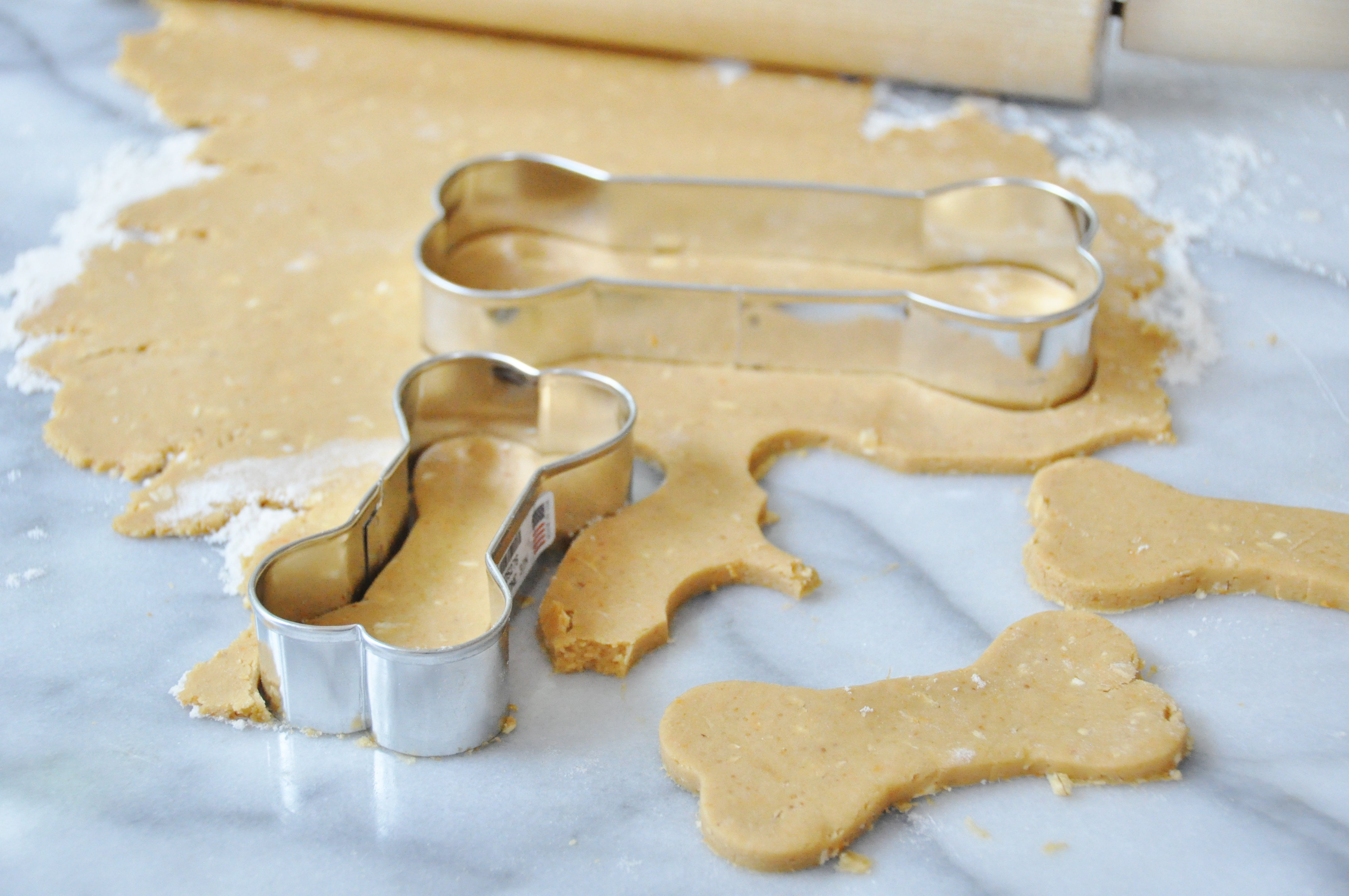 Vegan Peanut Butter and Carrot Dog Cookies