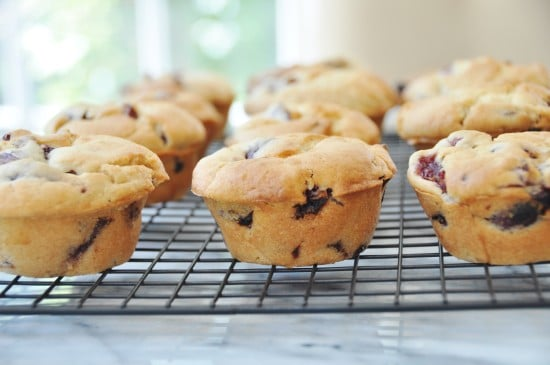 Vegan Cherry Vanilla Muffins