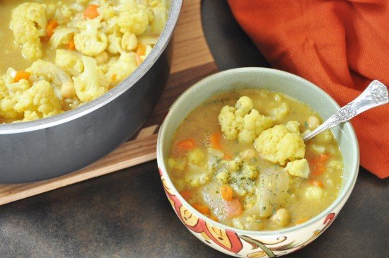 Indian Spice Cauliflower Soup