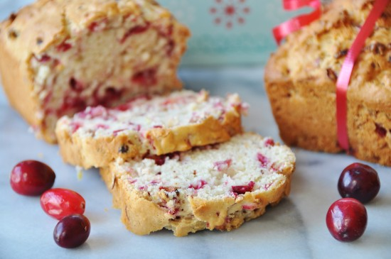 Vegan Cranberry Lemon Quick Bread