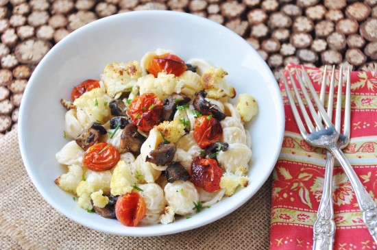 Orecchiette Roasted Cauliflower & Smoky Mushrooms