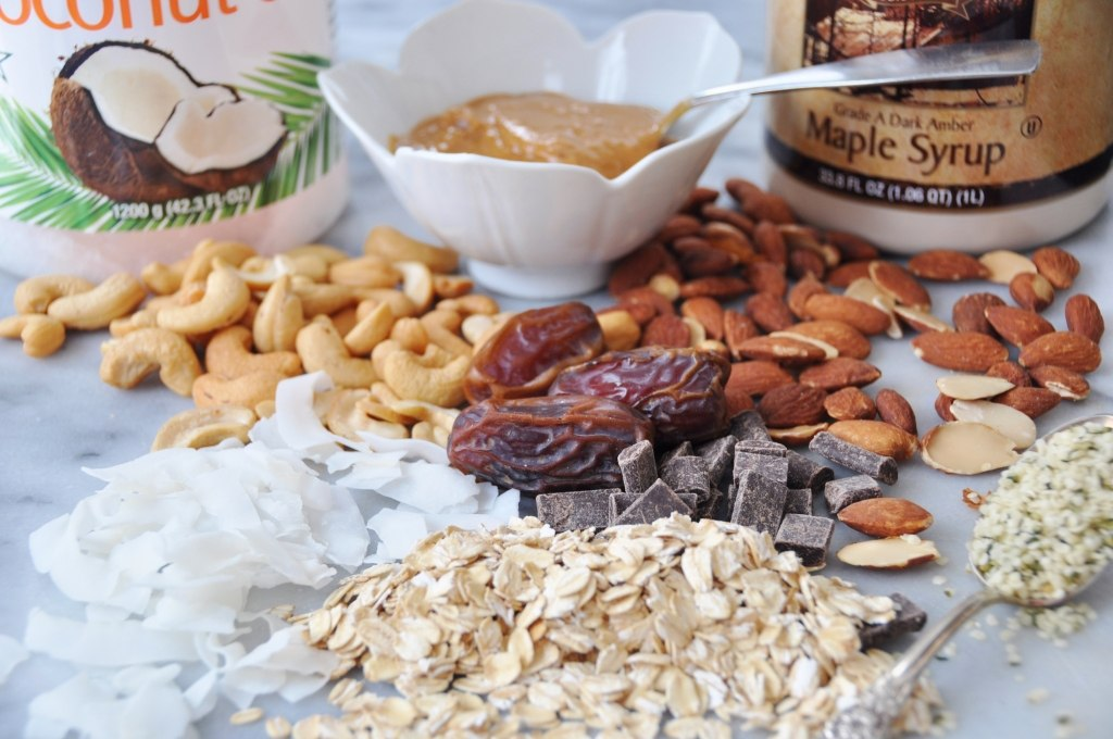 Orange Coconut Granola Ingredients