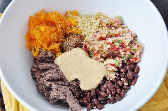 Ingredients for Spicy Black Bean Quinoa Burgers