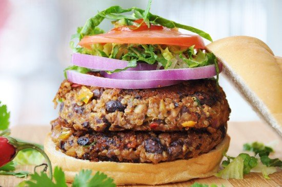 Vegan Spicy Black Bean Quinoa Burgers