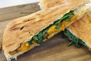 Butternut Squash and Spinach Panini