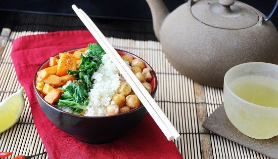Asian Cauliflower Rice Bowl