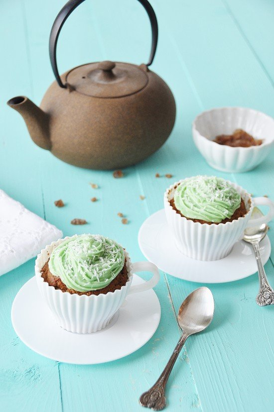 Vegan Matcha Green Tea Cupcakes