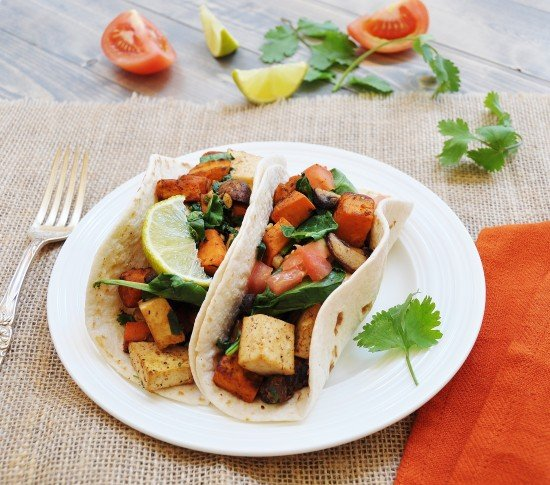 Sweet Potato and Tofu Breakfast Tacos