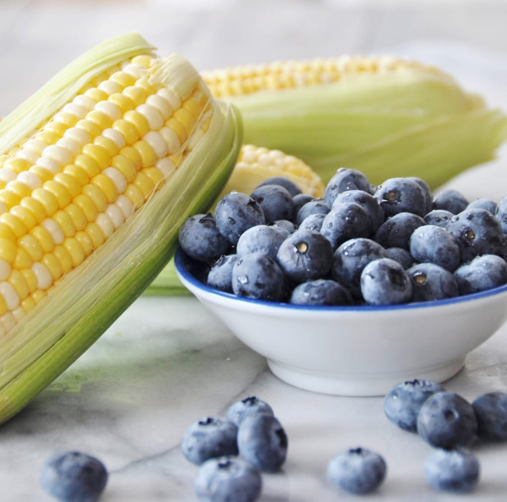 Sweet Corn and Blueberries
