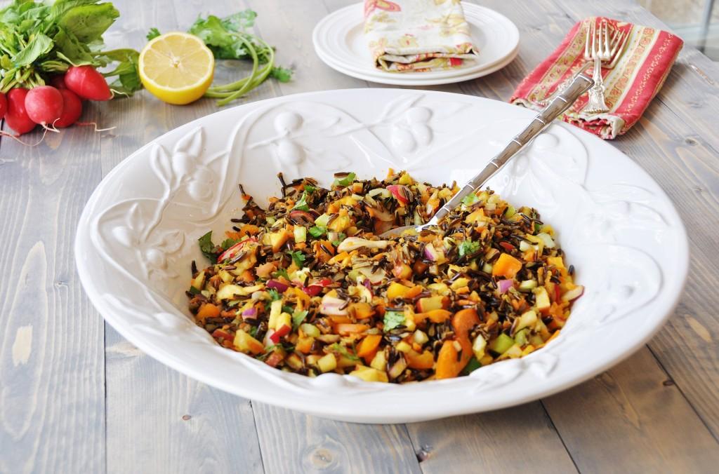 Wild Rice Vegetable Pilaf - Veganosity