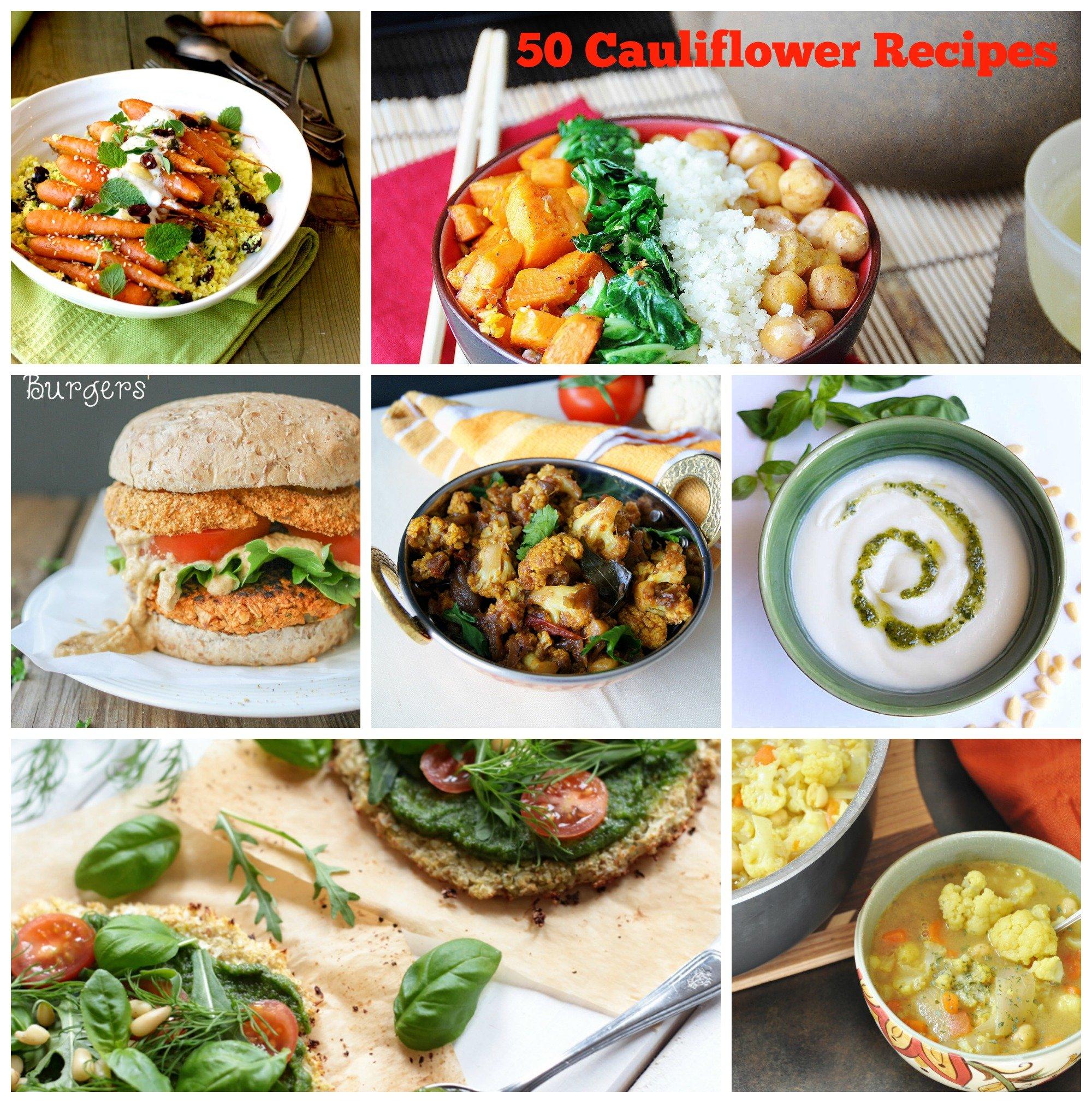 50 vegan cauliflower recipes veganosity cauliflower collage forumfinder Gallery