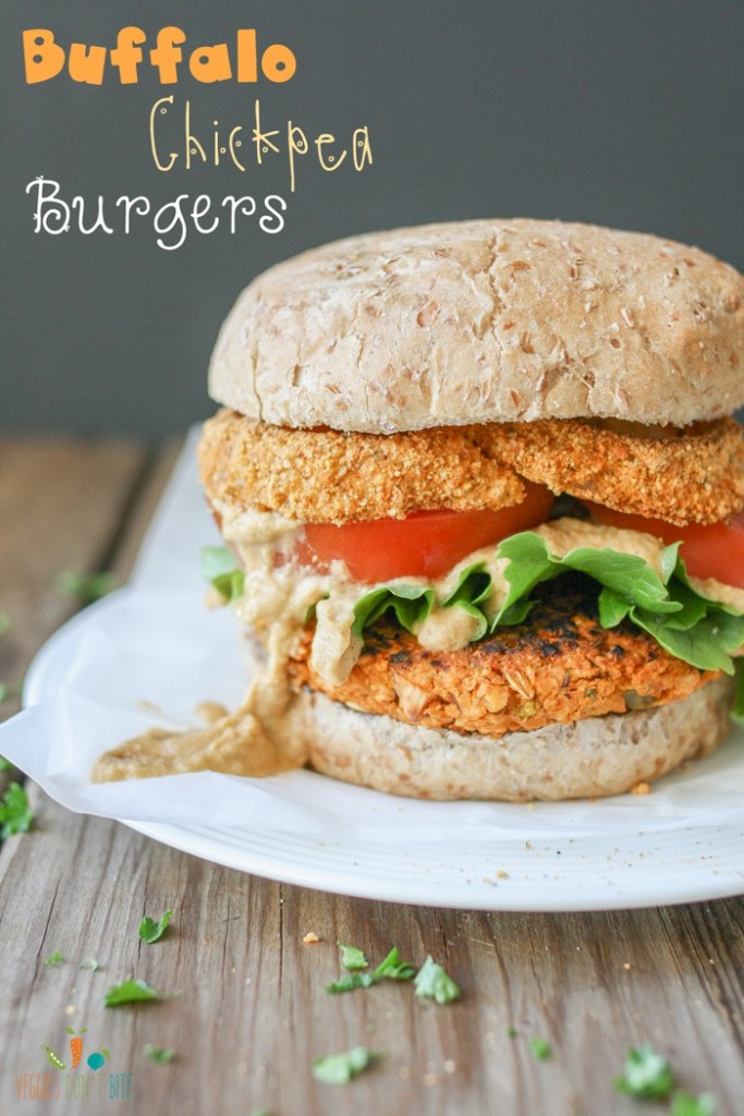 Buffalo Chickpea Burgers Veggies Don't Bite
