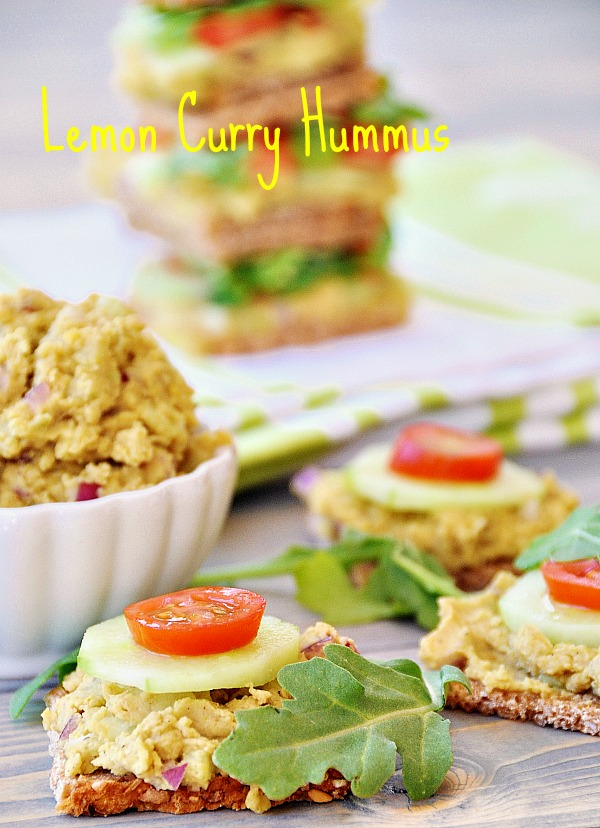 Lemon Curry Hummus
