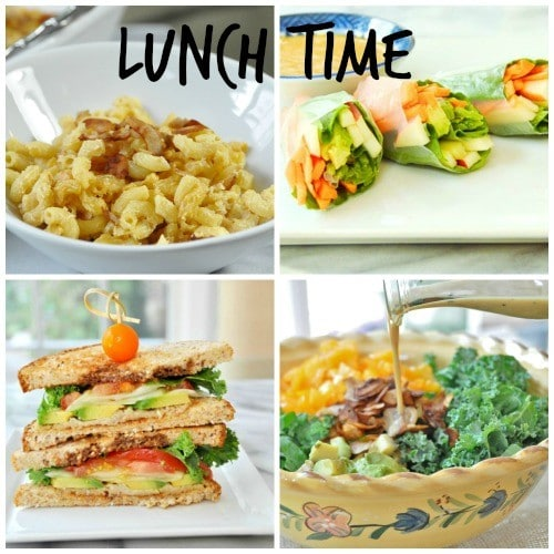 Meatless Monday Lunch Collage