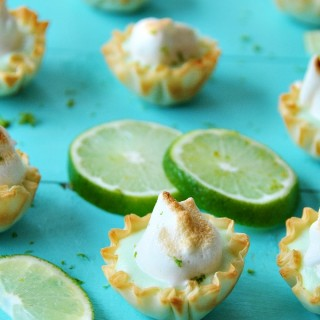 Vegan Lime Tarts with Meringue