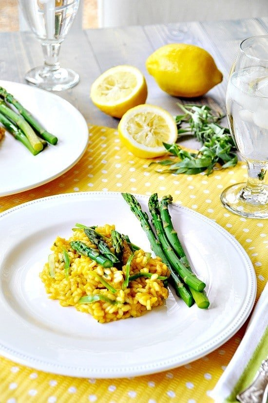 lemon and asparagus risotto 6