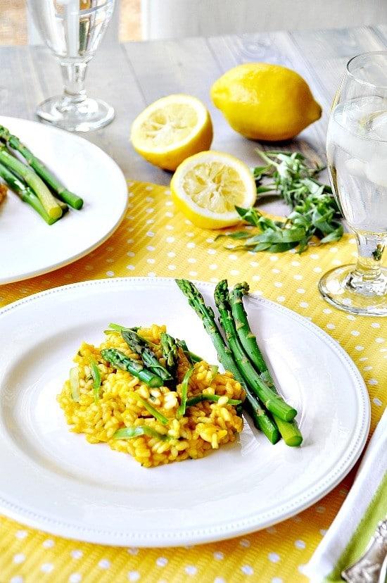 recipe: lemon asparagus risotto vegan [8]