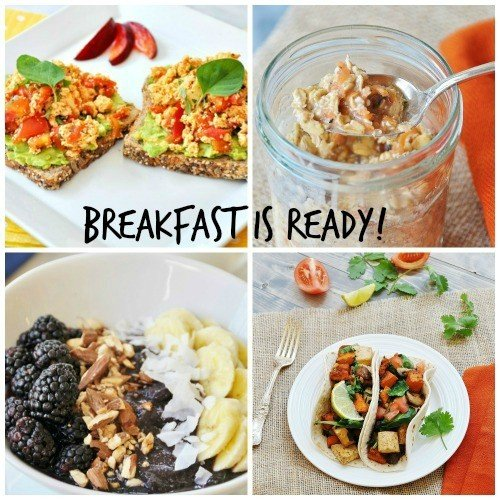 meatless monday breakfast collage