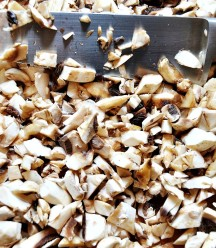 Finely Diced Mushrooms