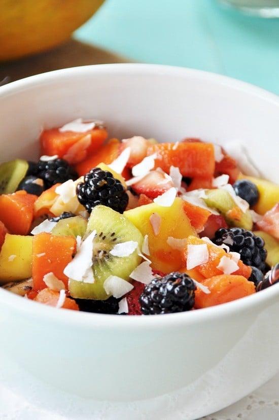Healthy Vegan Ambrosia Fruit Salad