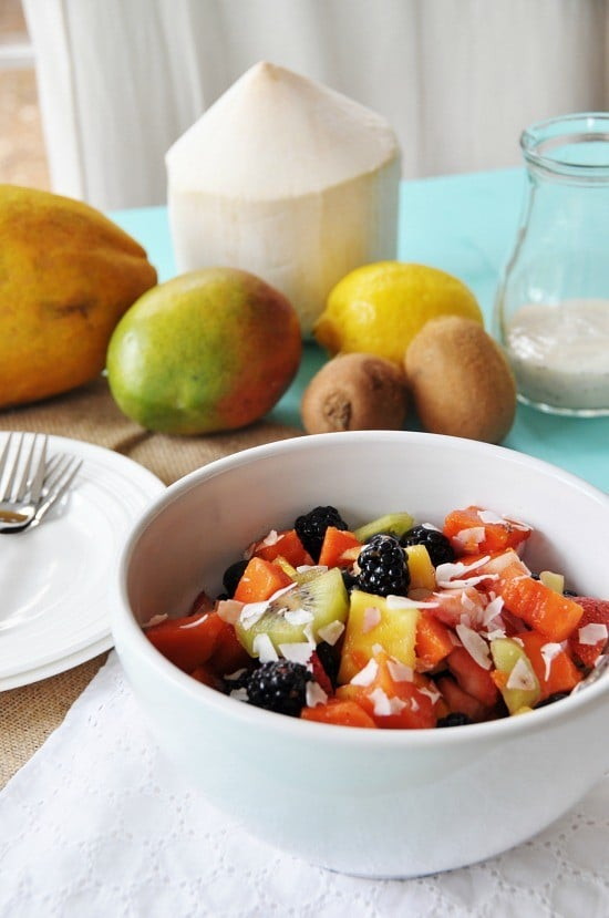 ambrosia fruit salad healthy fruit bowls