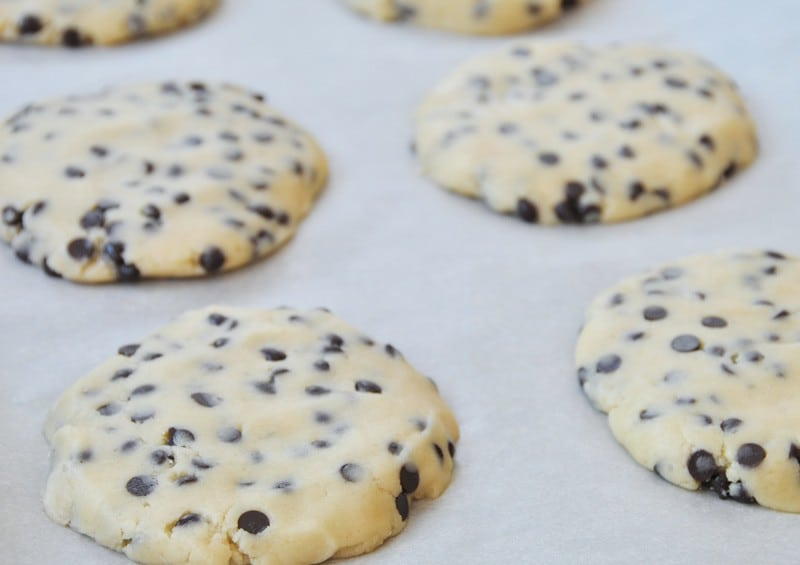Chocolate Chip Cookies for Ice Cream Sandwiches