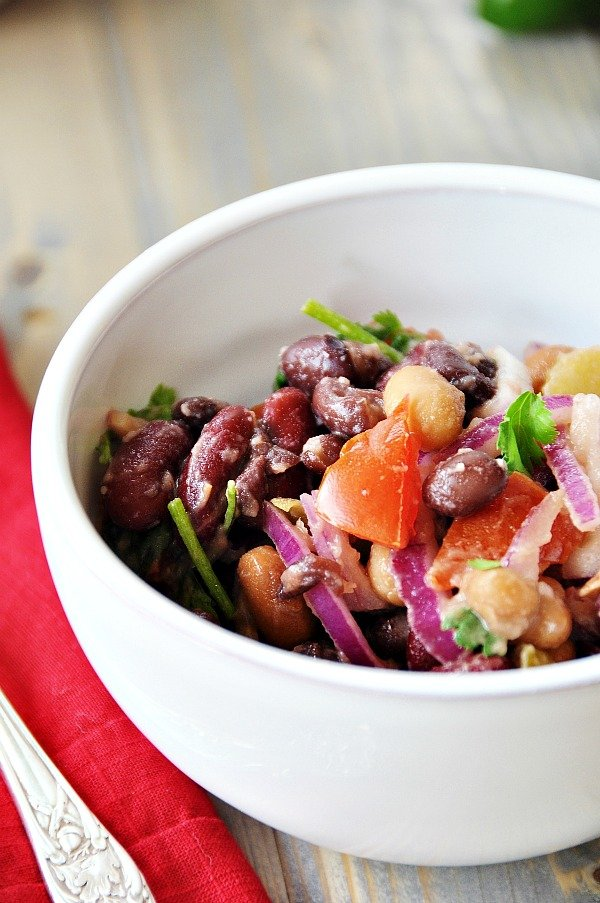 how to make bean salad from scratch