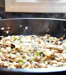 Mushroom mixture for tamales