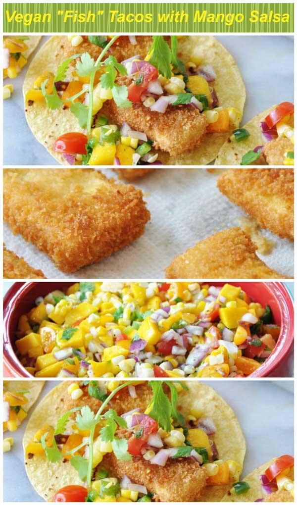 Vegan fish tacos collage for Vegan fish tacos