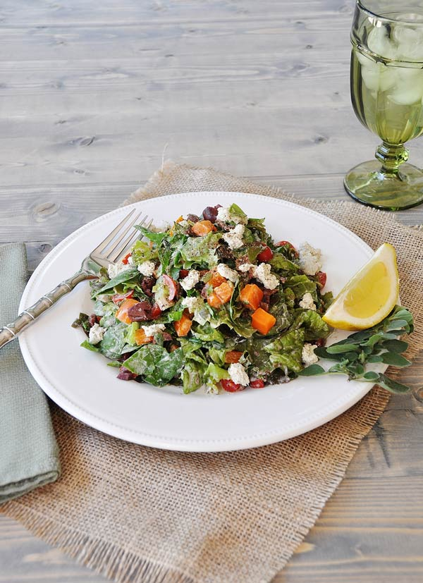 Vegetable & Herb Chopped Salad & Treeline Cheese Review
