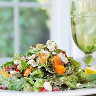 Vegetable & Herb Chopped Salad & a Treeline Cheese Review