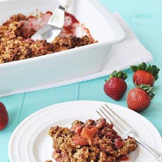 Vegan Gluten-Free Strawberry Rhubarb Crumble