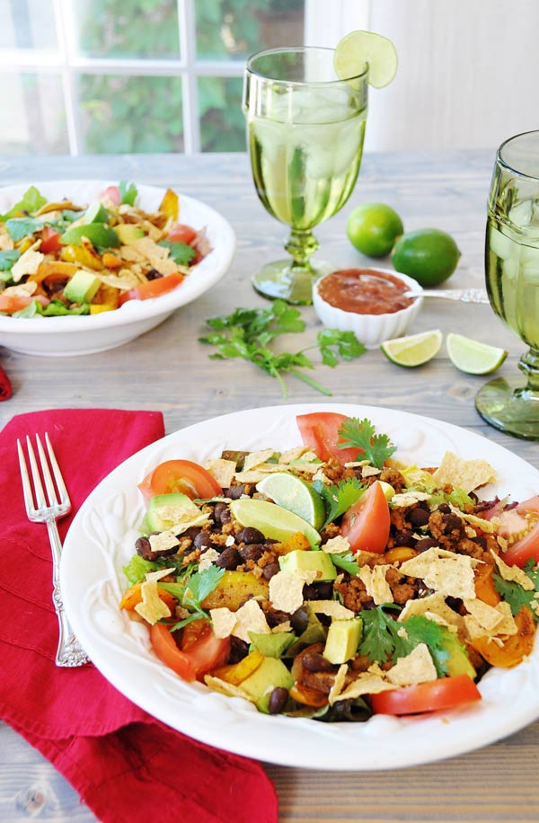 Easy Meatless Monday Taco Salad