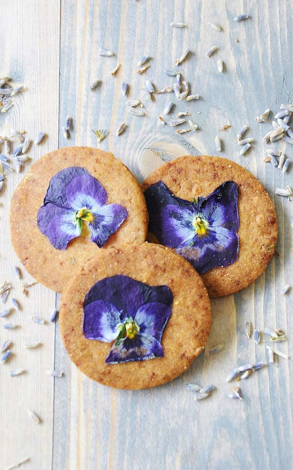 Lavender and Vanilla Bean Shortbread Cookies