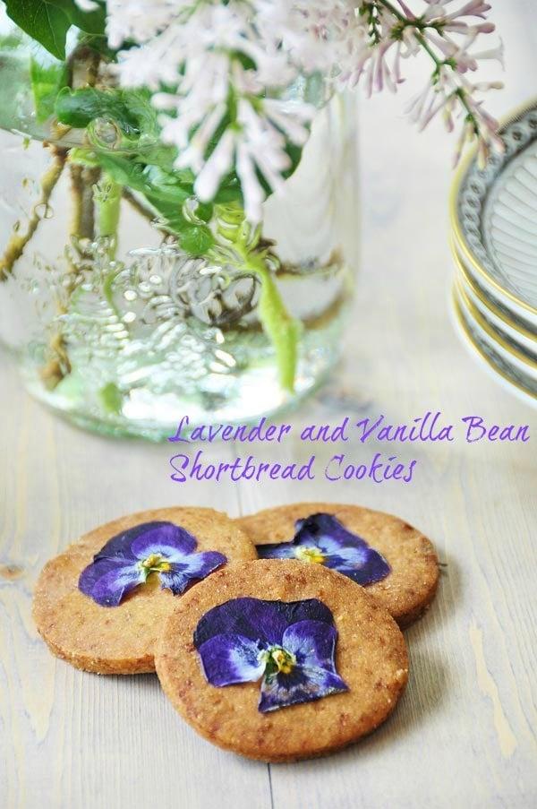 Lavender and Vanilla Bean Shortbread Cookies