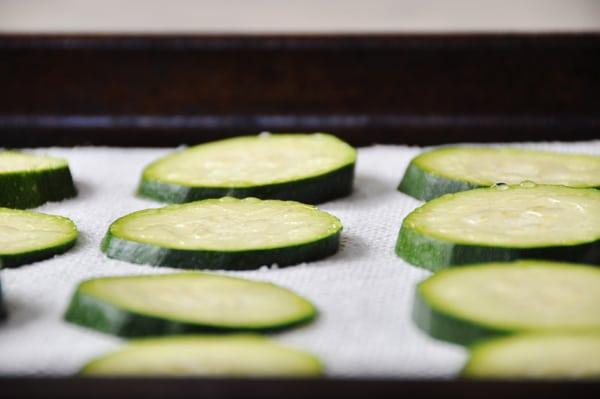 Zucchini purging water