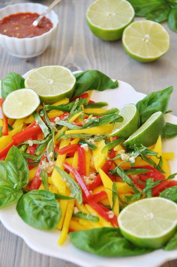 Thai Mango Salad with Ginger Lime Dressing