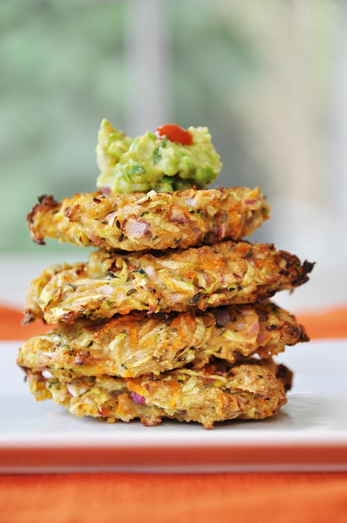 Vegan oil free zucchini carrot fritters veganosity forumfinder Images