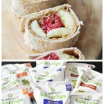 Peanut Butter, Raspberry, and Banana Spirals & a SuperEats Kale Chips Review and Giveaway