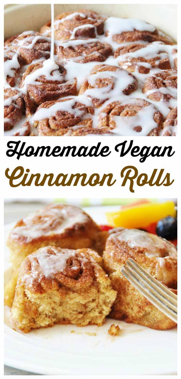 Homemade Vegan Cinnamon Rolls