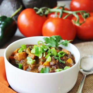 Roasted Sweet Potato Chili - Vegan and Gluten-Free