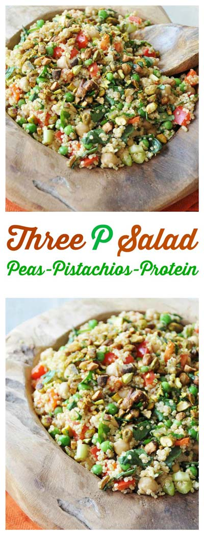 Three P Salad: Peas, Pistachios, and Protein