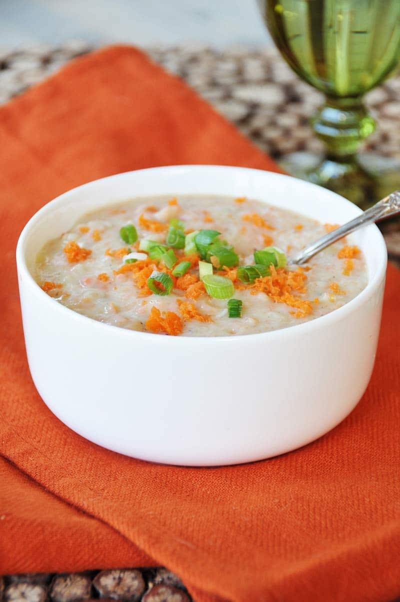 8 Ingredient Vegan Chunky Potato And Carrot Soup Gluten Free