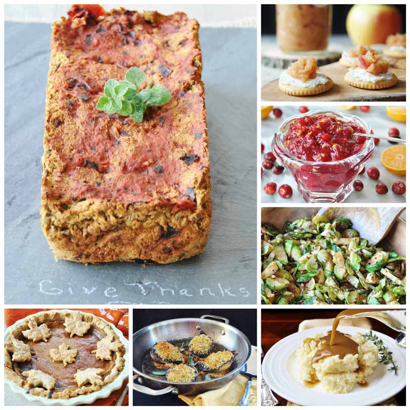 Thanksgiving Menu with Lentil Loaf