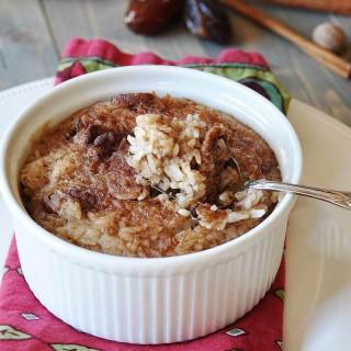 Vegan NOG Rice Pudding (Dairy and Egg Free)